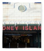 Coney Island Bmt Subway Station Fleece Blanket