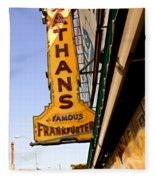 Coney Island Memories 1 Fleece Blanket