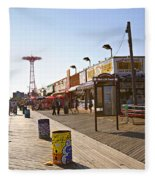 Coney Island Memories 8 Fleece Blanket