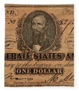 Confederate Dollar Bill Fleece Blanket