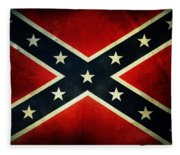 Confederate Flag 4 Fleece Blanket