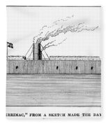Confederate Ironclad, 1862 Fleece Blanket