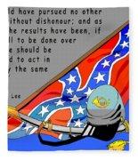 Confederate States Of America Robert E Lee Fleece Blanket