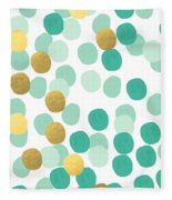 Confetti 2- Abstract Art Fleece Blanket