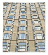 Congress Plaza Hotel Windows Fleece Blanket