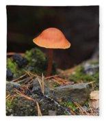 Conical Wax Cap Mushroom Fleece Blanket