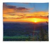 Conifer Sunrise Fleece Blanket