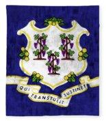 Connecticut Flag Fleece Blanket