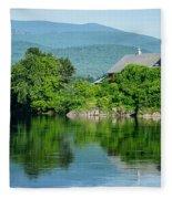 Connecticut River Farm II Fleece Blanket