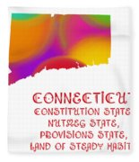 Connecticut State Map Collection 2 Fleece Blanket