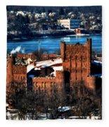 Connecticut Street Armory Winter 2013 Fleece Blanket