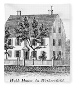 Connecticut Webb House Fleece Blanket