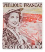 Connecting The Nice France 1860-1960 Fleece Blanket