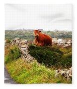 Connemara Cow Fleece Blanket