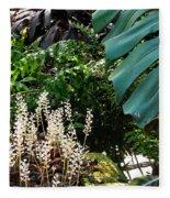 Conservatory Leaves Fleece Blanket