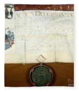 Constantijn Huygens Knighthood 1622 Fleece Blanket