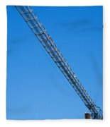 Construction Crane 01 Fleece Blanket