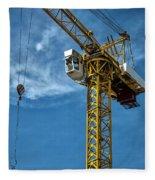 Construction Crane Asia Fleece Blanket