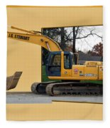 Construction Equipment 01 Fleece Blanket