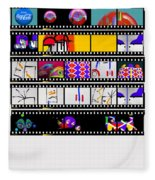 Contact Sheet Fleece Blanket