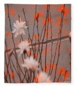 Contemporary Art - Butterfly Kisses - Luther Fine Art Fleece Blanket