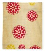 Contemporary Dandelions 1 Part 1 Of 3 Fleece Blanket