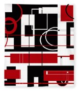 Contemporary Design Fleece Blanket