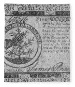 Continental Currency, 1775 Fleece Blanket