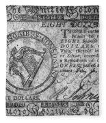 Continental Currency, 1777 Fleece Blanket