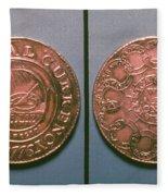 Continental Dollar, 1776 Fleece Blanket