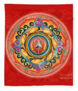 Continuing Mandala Fleece Blanket