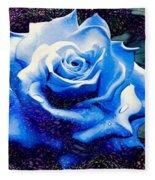Contorted Rose Fleece Blanket