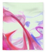 Contortion Pastel Abstract  Fleece Blanket