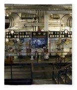 Control Board Engine Room Queen Mary Ocean Liner Long Beach Ca Fleece Blanket