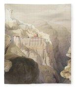 Convent Of St. Saba, April 4th 1839 Fleece Blanket