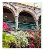 Convento De La Popa Cartagena Fleece Blanket