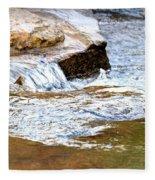 Converging Stream Water Fleece Blanket