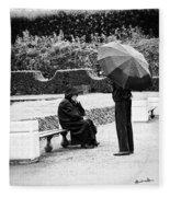 Conversation In The Rain Fleece Blanket