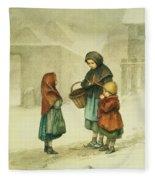 Conversation In The Snow Fleece Blanket
