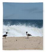Conversation On The Beach Fleece Blanket