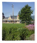 Conway Scenic Railroad - North Conway New Hampshire Usa Fleece Blanket