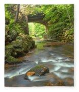 Cook Forest Stream Under The Bridge Fleece Blanket