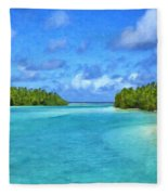 Cook Islands Lagoon Fleece Blanket