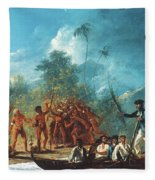 Cook New Hebrides, 1774 Fleece Blanket