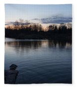 Cool Blue Ripples - Lake Shore Eventide Fleece Blanket