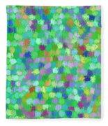 Cool Green Splash Art Fleece Blanket