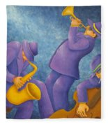 Cool Jazz Trio Fleece Blanket
