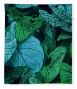 Cool Leafy Green Fleece Blanket
