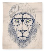 Cool Lion Fleece Blanket
