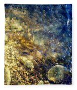 Cool Waters...of The Rifle River Fleece Blanket